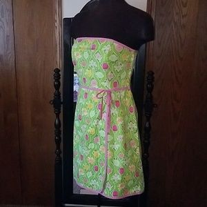 Lilly Pulitzer  strapless wrap dress